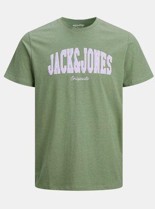 Zelené tričko s potlačou Jack & Jones