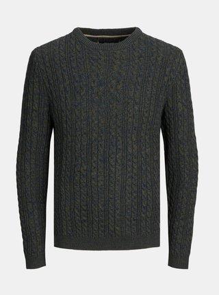 Tmavozelený sveter Jack & Jones