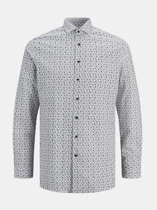 Bílá vzorovaná košile Jack & Jones