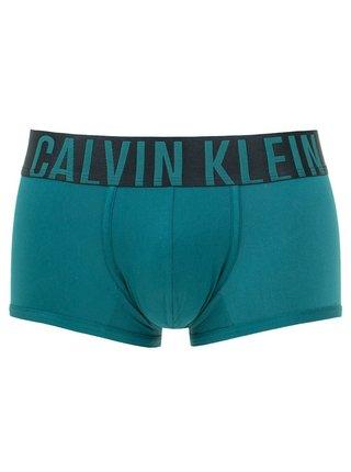 Calvin Klein petrolejové boxerky Low Rise Trunk
