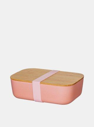Ružový box na jedlo Sass & Belle