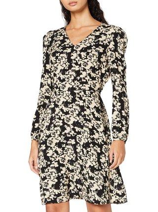 Ichi černé šaty Ihvera s květinovým vzorem