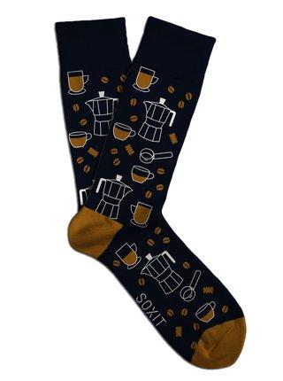 Soxit tmavě modré unisex ponožky Kávička