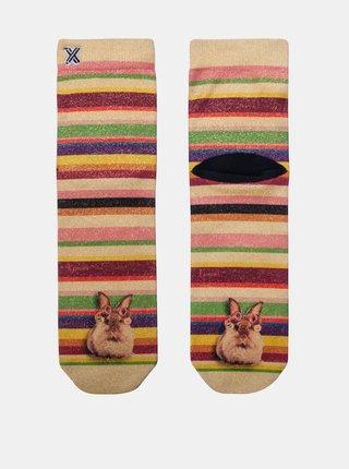 Béžovo-ružové dámske ponožky XPOOOS