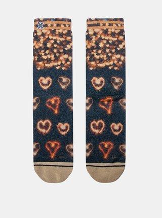 Modro-hnedé dámske ponožky XPOOOS