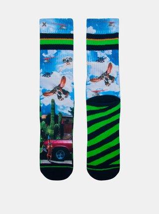 Modro-zelené pánské ponožky XPOOOS