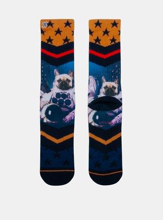 Modro-žlté pánske ponožky XPOOOS