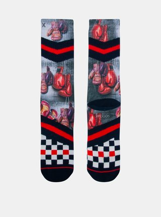 Čierno-červené pánske ponožky XPOOOS