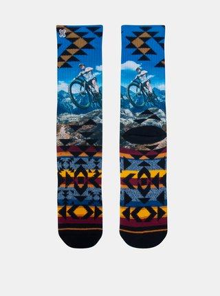 Žlto-modré pánske ponožky XPOOOS