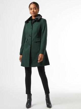 Tmavě zelený zimní kabát Dorothy Perkins Petite