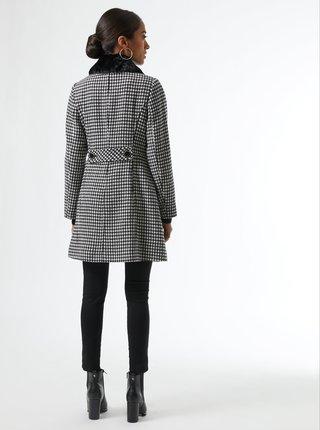 Bílo-černý vzorovaný zimní kabát Dorothy Perkins Petite