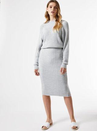 Šedá púzdrová sukňa Dorothy Perkins