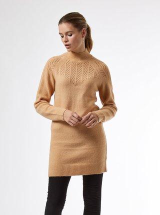 Hnědé dámské svetrové šaty Dorothy Perkins