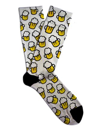Soxit bílé unisex ponožky White Beer