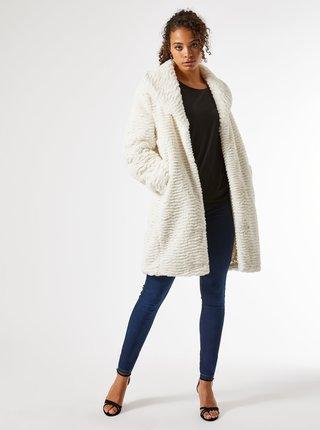 Biely zimný kabát Dorothy Perkins Tall