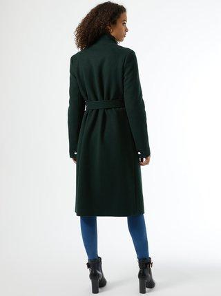 Tmavě zelený zimní kabát Dorothy Perkins Tall