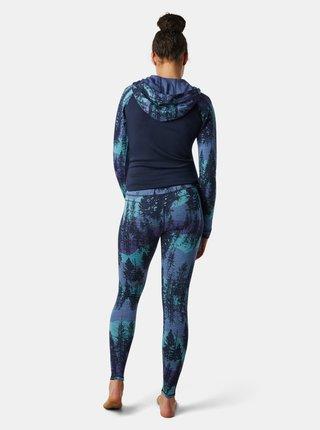 Modré dámské vzorované legíny Smartwool