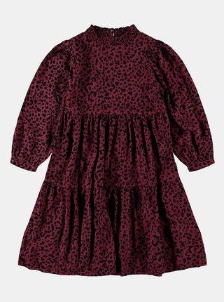 Vínové dievčenské vzorované šaty name it
