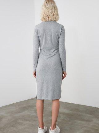 Šedé šaty Trendyol