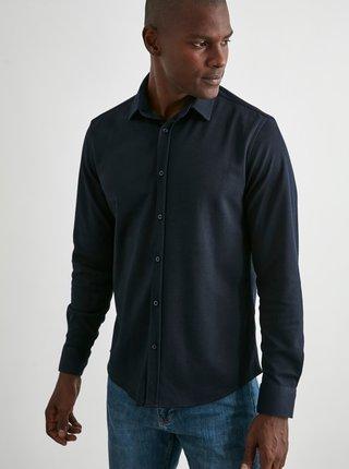 Tmavě modrá pánská košile Trendyol