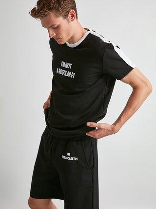 Čierne pánske pyžamo Trendyol