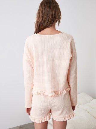 Svetloružové dámske pyžamo Trendyol