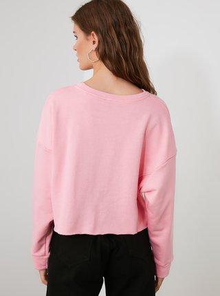 Růžová dámská mikina Trendyol