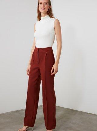 Hnědé dámské kalhoty Trendyol