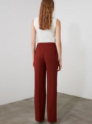 Hnedé dámske nohavice Trendyol