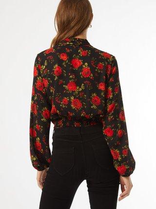 Čierna kvetovaná blúzka Dorothy Perkins
