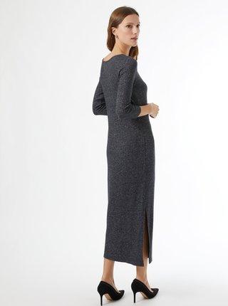 Šedé svetrové maxišaty Dorothy Perkins