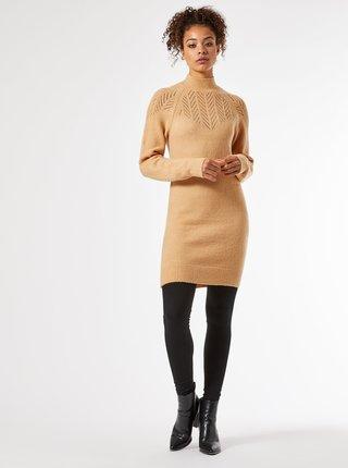 Béžové svetrové šaty Dorothy Perkins Tall