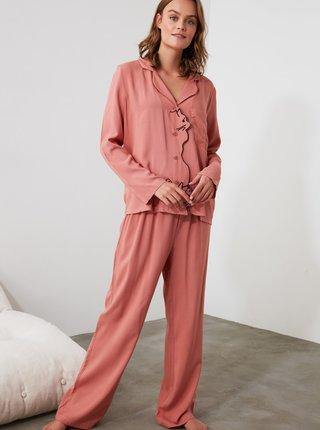 Ružové dámske pyžamo Trendyol