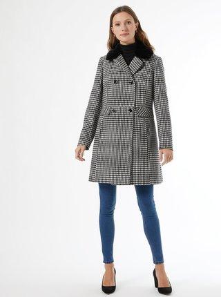 Šedý kostkovaný kabát Dorothy Perkins