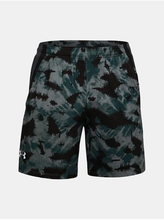 Kraťasy Under Armour UA LAUNCH SW 7'' PRINTED SHORT - tmavě čedá