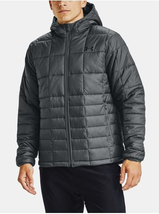 Bunda Under Armour UA Armour Insulated Hooded Jkt - šedá