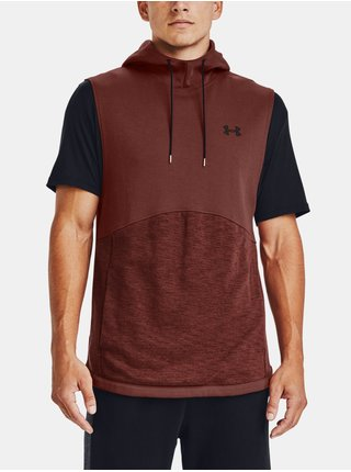 Mikina Under Armour DOUBLE KNIT SL HOODIE - cihlová