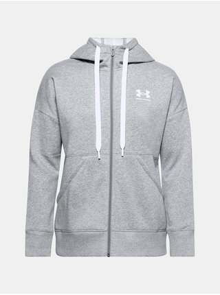 Mikina Under Armour Rival Fleece FZ Hoodie - šedá