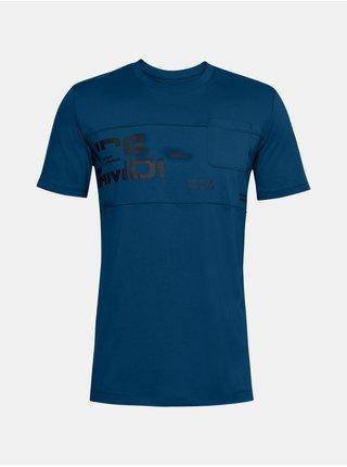 Tričko Under Armour UA Pocket Tee -tmavě modré