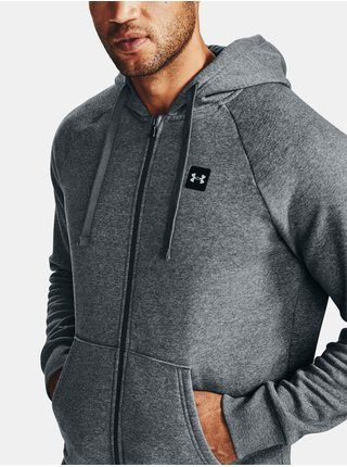 Mikina Under Armour UA Rival Fleece FZ Hoodie-GRY