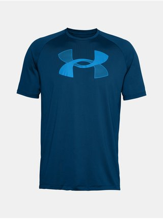 Tričko Under Armour UA BIG LOGO TECH SS - modrá