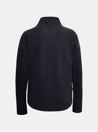 Mikina Under Armour Recover Fleece Wrap Neck - Čierná