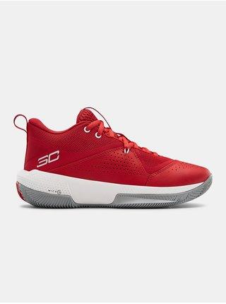 Topánky Under Armour GS SC 3ZER0 IV - červená
