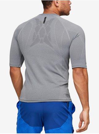 Kompresní tričko Under Armour Rush HG Seamless Comp SS - šedá