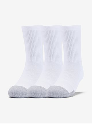 Ponožky Under Armour Youth Heatgear Crew-WHT