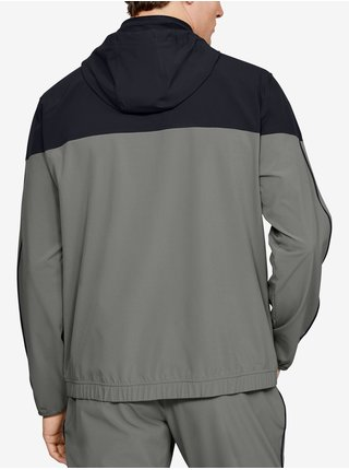 Mikina Under Armour Athlete Recovery Woven Warm Up Top - šedá
