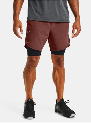 Kraťasy Under Armour UA Stretch-Woven Shorts - cihlová