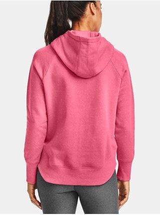 Mikina Under Armour Rival Fleece Metallic Hoodie - růžová