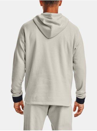 Mikina Under Armour Charged Cotton FLC FZ HD - světle šedá