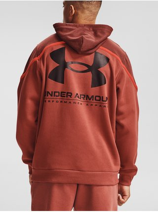 Mikina Under Armour UA Rival Fleece AMP HD - cihlová